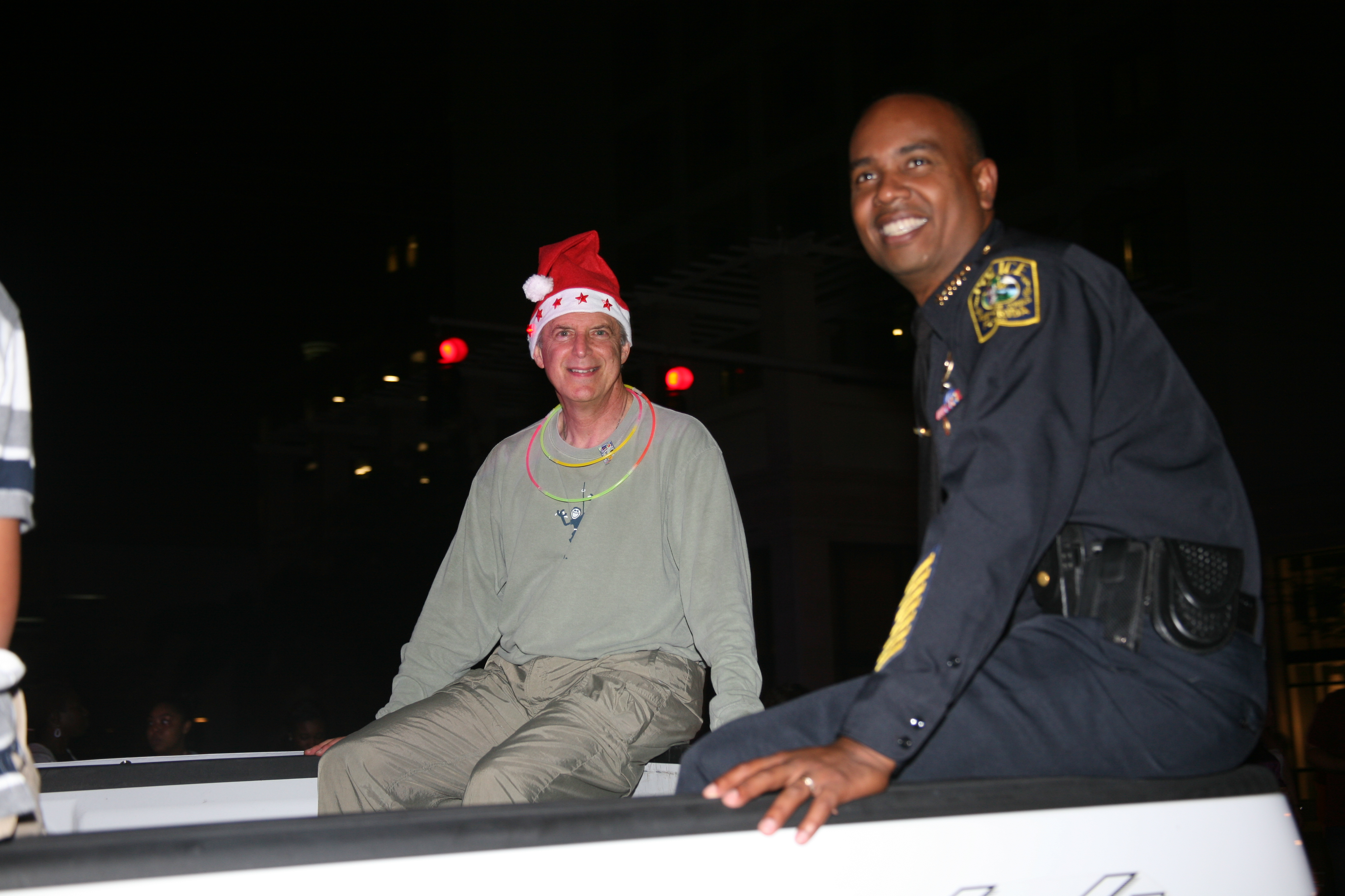 Schools Police Chief Ian A. Moffett and School Board Vice Chair Larry S. Feldman March On 65th Junior Orange Bowl Parade