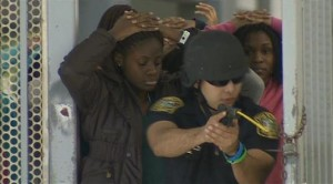M-Dade Schools Police Department holds a mock active shooter drill in order to prepare for a worst-case scenario.
