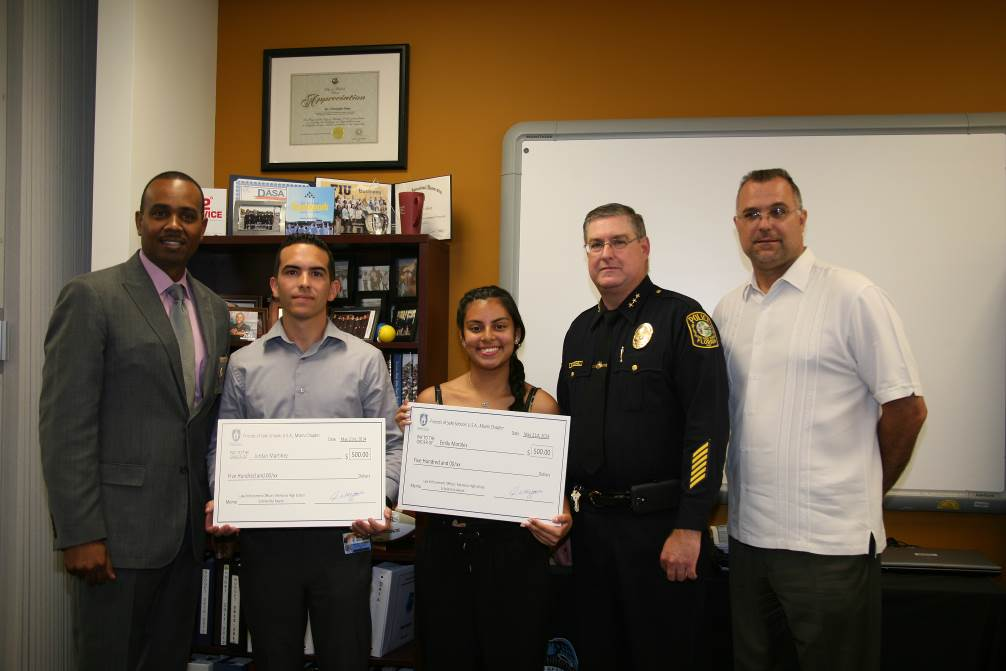 Two Law Enforcement Memorial Senior High Students Receive $500 Scholarships