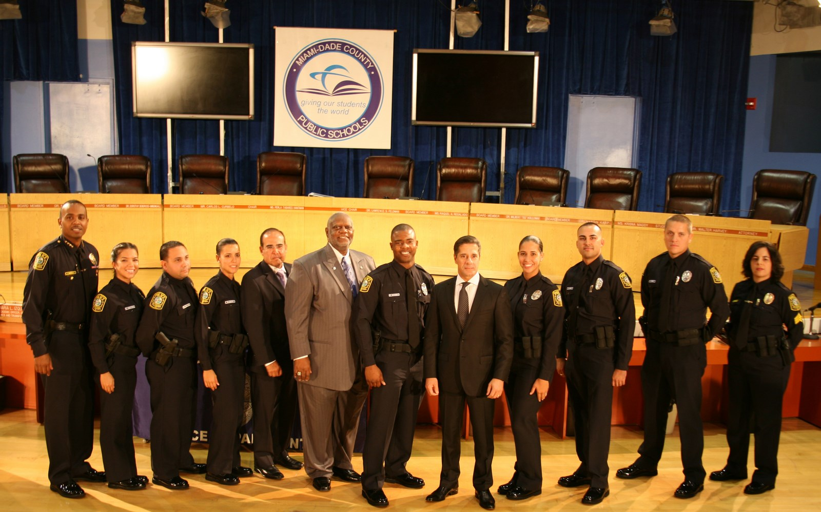 Swearing-In Ceremony Welcomes 7 Police Officers and Promotes 1 to Sergeant