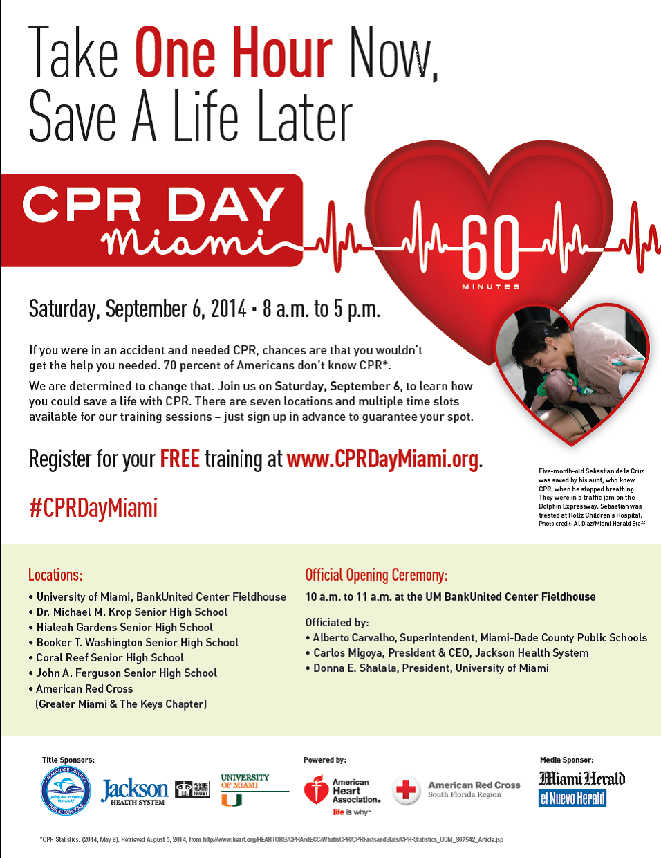 CPR DAY Miami on September 6th
