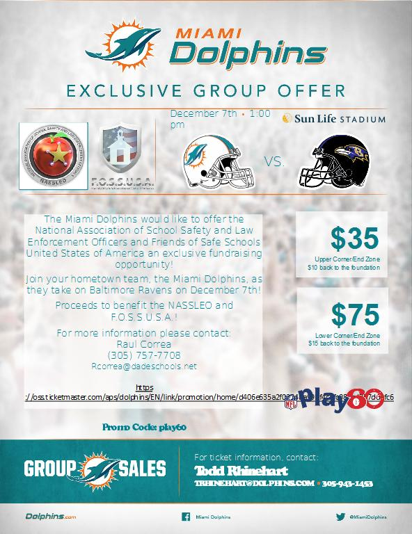 Dolphins vs Ravens on December 7th, 2014 at 1:00 pm.